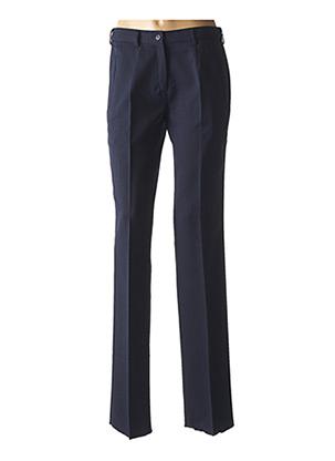 Pantalon chic bleu PIERRE D'ARLANC pour femme
