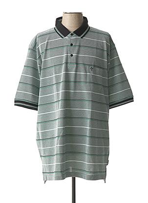 Polo manches courtes vert HAJO pour homme