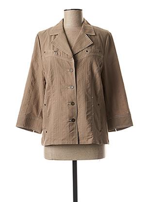 Veste casual marron FRANCE RIVOIRE pour femme