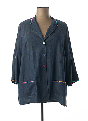 Veste casual bleu IMPULSION pour femme
