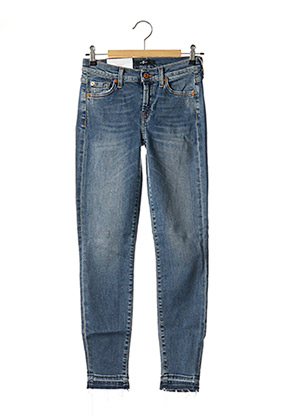 Jeans coupe slim bleu 7 FOR ALL MANKIND pour femme