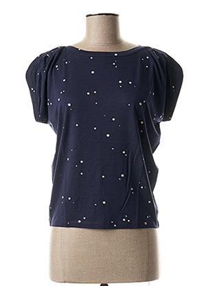 T-shirt manches courtes bleu SESSUN pour femme