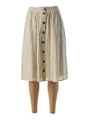 Jupe mi-longue beige ESPRIT pour femme