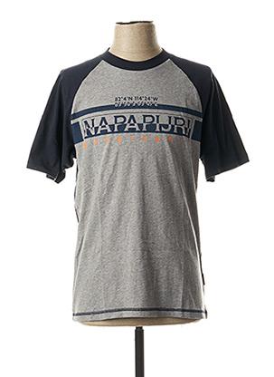 T-shirt manches courtes bleu NAPAPIJRI pour homme