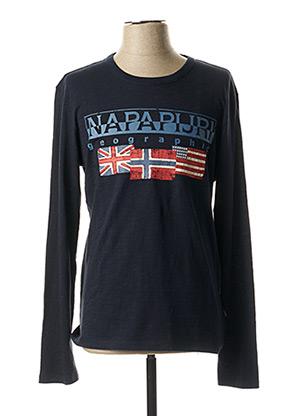 T-shirt manches longues bleu NAPAPIJRI pour homme