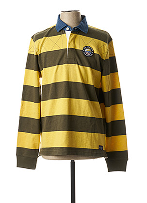 Polo manches longues jaune NEW ZEALAND AUCKLAND pour homme