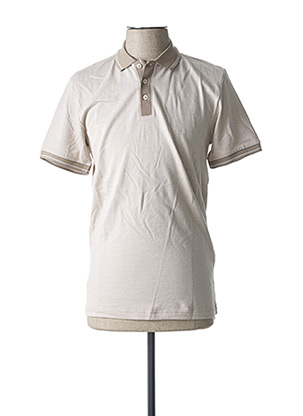 Polo manches longues beige SELECTED pour homme