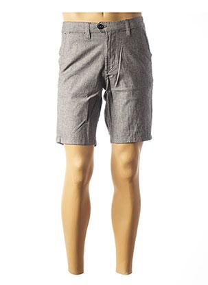 Short gris SELECTED pour homme