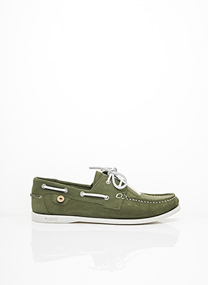 Chaussures bâteau vert FAGUO pour homme
