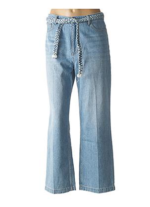 Jeans coupe large bleu LABDIP pour femme