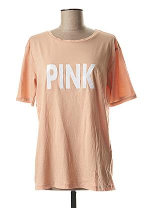 T-shirt manches courtes beige YAYA pour femme