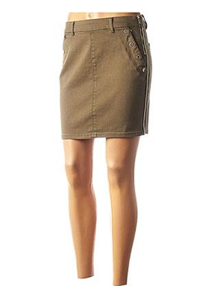 Jupe courte vert MORGAN pour femme