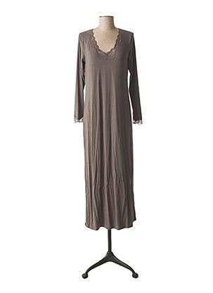 Chemise de nuit gris ANTIGEL pour femme