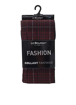 Collants rouge LE BOURGET pour femme