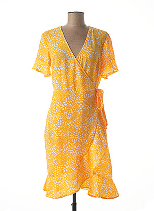 Robe mi-longue orange VERO MODA pour femme