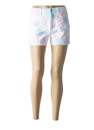Short bleu ONLY pour femme