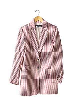 Manteau long rose ZARA pour femme