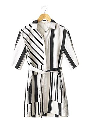 Robe courte blanc MAJE pour femme