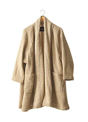 Manteau long beige OTTOD'AME pour femme
