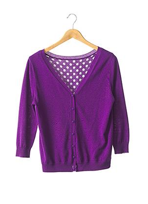 Gilet manches longues violet MAXMARA pour femme