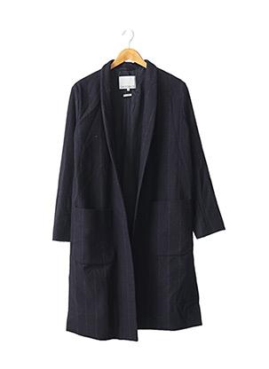 Manteau long bleu RUE BLANCHE pour femme