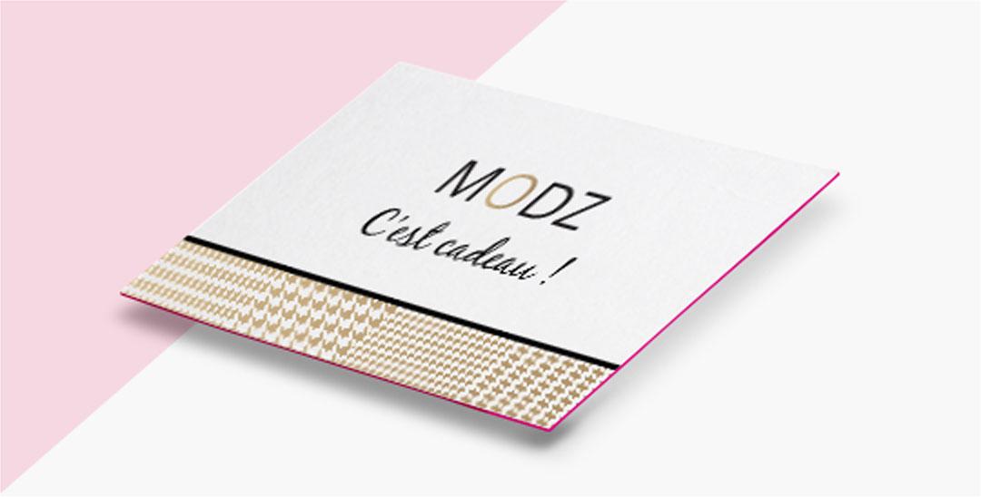 La carte cadeau Modz
